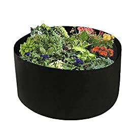 Toyfun 100 gallon grow bags extra large fabric raised planting bed round raised planter garden bed bag durable felt… 1 excellent protection: made of a proprietary felt fabric material that provides exceptional air flow throughout the soil and root systems and allows excess moisture to easily drain away. Fun gardening: if you have no place to grow vegetable, this fabric garden bed is the best choice. Just put it in your terrace, patio, yard and fill with fresh new earth. Plant your vegetables, flowers etc. Reusable and durable: quick easy to setup, relocate, wash and store for future use. Reusable containers durable enough for many seasons use.
