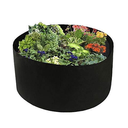 Firlar 2 PCS 100 Gallon Round Plant Grow Bags,Raised Garden Bed,Planting Container Grow Bags Felt Fabric Plant Pot for Plants,Vegetables,Flowers,Black