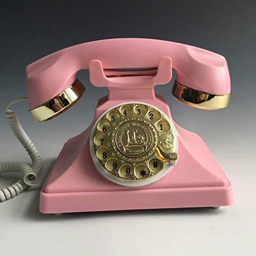ADSE Teléfono de marcación giratoria Antiguo Oficina de Moda Creativa Tarjeta de casa con Cable inalámbrico Vintage Retro teléfono Fijo