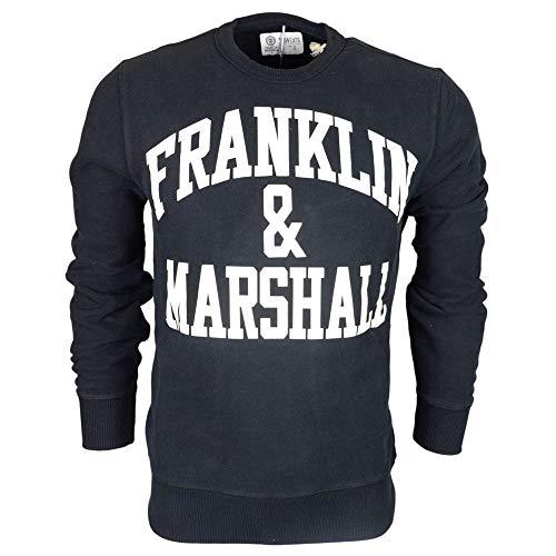 Franklin & Marshall Sudadera para hombre con diseño de la garganta, 4 colores, Art.061A Negro S