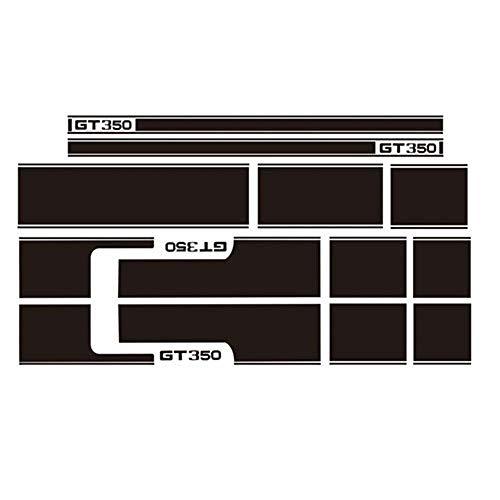 Volledige Body Auto Stickers Gepersonaliseerde Taille Lijn Decals Appliqués aan de zijkanten van de kap Rok Appliques aan beide zijden van de deur KK Materiaal Shading Padding Geschikt voor Mustang GT350 Modellen Zwart