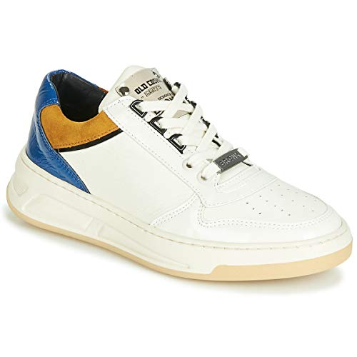 BRONX OLD COSMO Sneakers dames Wit/Oker/Blauw Lage sneakers