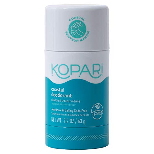 Kopari AluminumFree Deodorant Coastal | NonToxic Paraben Free Gluten amp Cruelty Free Men and Women Deodorant | Made with Organic Coconut Oil | 22 oz