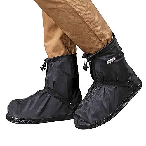 YMTECH Regenüberschuhe Wasserdicht Schuhe 1 Paar, Outdoor Rutschfester Radsportschuhe Überschuhe (38 – 39 EU) - 2