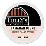 Tully's Coffee Hawaiian Blend, Medium Roast, Keurig Single-Serve K-Cup Coffee Pods, 96 Count