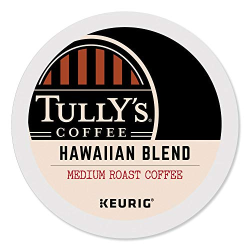 Tully's Coffee Hawaiian Blend, Single-Serve Keurig K-Cup Pods, Dark Roast Coffee, 96 Count