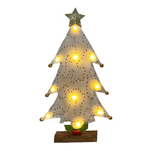 deendeng Decoraciones de Navidad - Mini árbol de Navidad con luces LED Adornos Festival Escritorio Mesa Decoración del Hogar