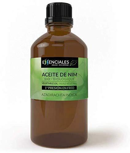 Essenciales - Aceite Vegetal de Nim BIO, Virgen, 100% Puro y Certificado Ecológico, 200 ml | Aceite Vegetal Azadirachta Indica, 1ª Presión en Frío