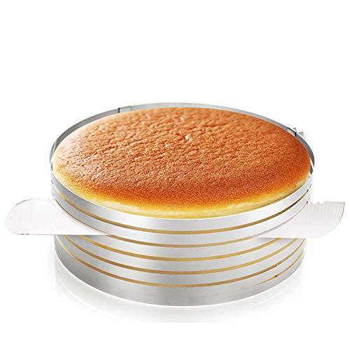 Fore Mousse Slice Cake Cutter, Ring Layer Kuchen Slicer, Einstellbare Edelstahl Mousse Cake, Schicht Schneidwerkzeug, Zum leichten Schneiden von Tortenböden