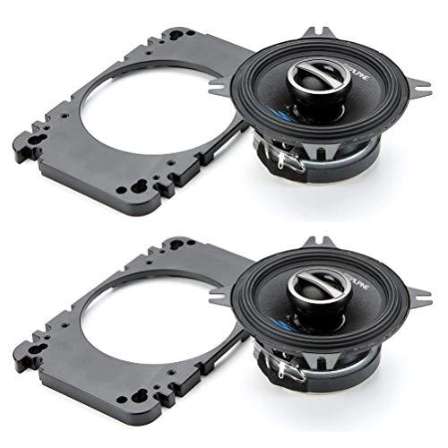"2 2-Wege-koaxial Lautsprecher kompatibel mit Alpine S-S40 4\"" 10,00 cm 100 mm 4 x 6 10 x 15 cm 100 x 150 mm 45 watt rms 140 watt max 4 ohm, pro Paar"