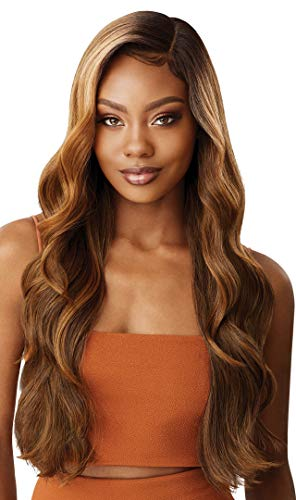 Outre LACEFRONT COLORBOMB Long Body Wave Exclusive Salon-Designed Blonde Shades Pre-Plucked Soft Swiss Lace Natural Baby Haur Heat Resisitant Synthetic - KIMANI (3DRFFWTBL)