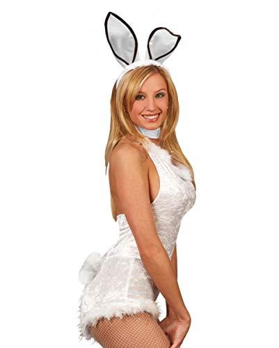 Hasen & Bunny Ohren Haarreif mit weißem Puschel