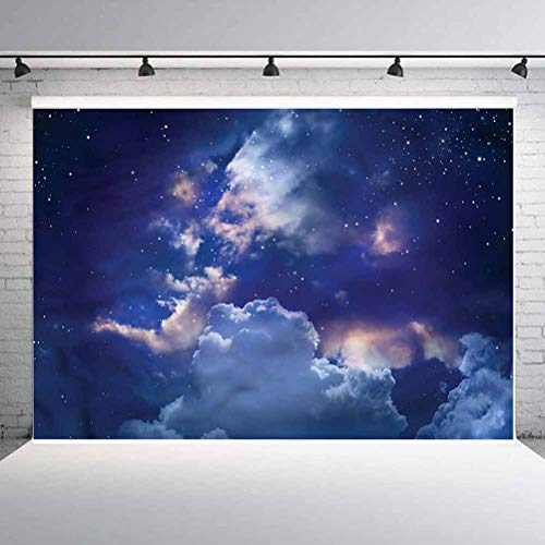 6x6FT Vinyl Wall Photography Backdrop,Fantasy,Horse Spring Tree Cloud Background for Party Home Decor Outdoorsy Theme Shoot Props