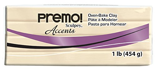 Sculpey Premo Polymer Art Clay Accents, 1-Pound, Translucent (PE1 5310)