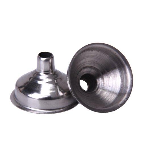 Embudo para petaca de acero inoxidable, 2 unidades, color plateado