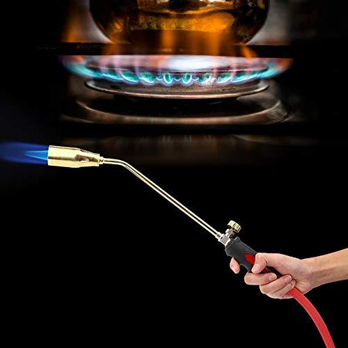 Quemador portátil, iniciador de fuego de apertura simple de hierro y latón, soplete de varilla Quemador de propano para gas natural licuado con metano butano