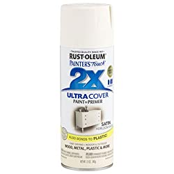 rustoleum satin spray paint. the simplified family how we hid our ugly water heater.