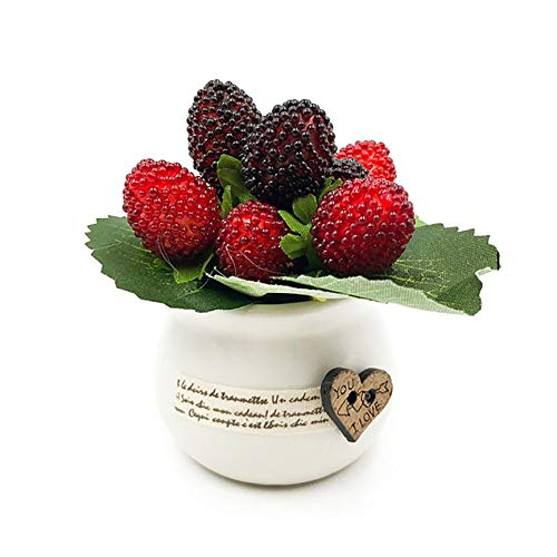VCB Planta de Morera roja Flores Artificiales