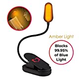 Amber Soft - Blue Light Blocking - Reading Light - and Rechargeable