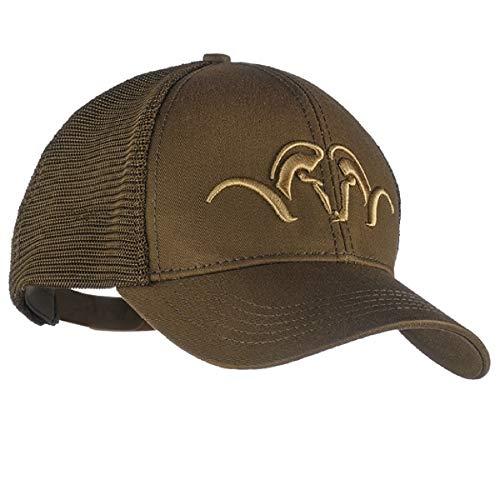 Blaser Gorra de caza de malla marrón – Gorra de caza con logotipo bordado – Gorra de béisbol para cazadores y cazadores – Gorra de camionero para hombre y mujer