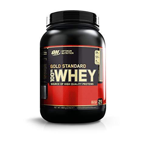 Optimum Nutrition Gold Standard 100% Whey Proteine in Polvere con Proteine Isolate, Aminoacidi e Glutammina per la Massa Muscolare, Cookies & Cream, 29 Porzioni, 0.9 Kg, il Packaging Potrebbe Variare