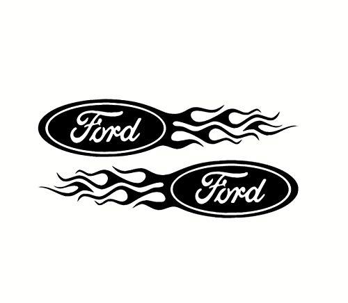 Vlammende Ford logo stickers set van 2 elke rechts links Ford Logo Flame Sticker gemakkelijk aan te brengen en verwijderbaar