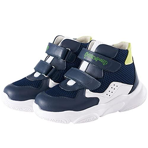 Las Muchachas del niño Niños Ortopédica Zapatos Enciende Zapatillas de Deporte con la Ayuda de Arco de Alta Volver correctiva Botas para piernas XO en Forma de pies Planos Hallux Valgus,Azul,2