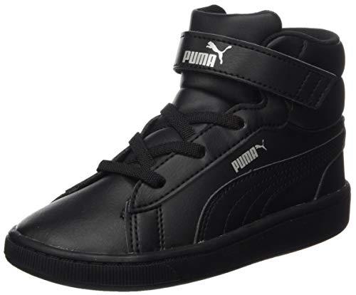 PUMA Vikky v2 Mid SL V Inf, Sneaker Bimba 0-24, Nero Black Black Silver White, 26 EU