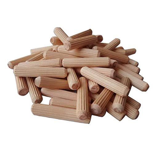 100 Stück Holzdübel Riffeldübel Paket 6 mm / 8 mm / 10 mm zur Auswahl - 10x60mm
