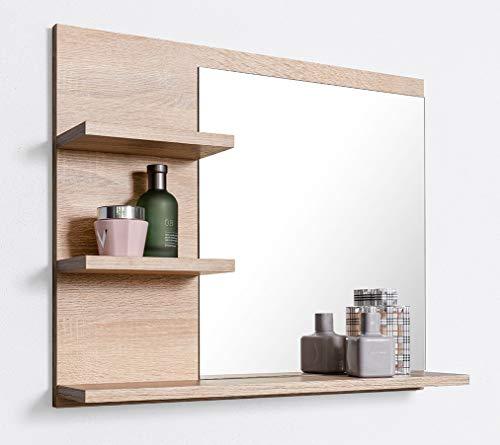 DOMTECH Badspiegel mit Ablagen, Badezimmer Spiegel, Wandspiegel, Badezimmerspiegel, L