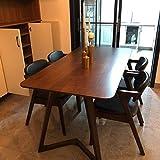 N-B Mesa de comedor de madera maciza de lujo ligera y combinación de silla moderna minimalista pequeño apartamento hogar comedor comedor con una mesa y 4 sillas