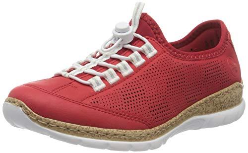 Rieker Damen Frühjahr/Sommer N42W8 Sneaker, Rot (Fire/Rosso 33), 36 EU