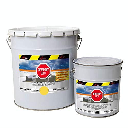 Revepoxy Deco–pintura epoxi decorativa para suelo de salón, laca, cocina, cuarto de baño