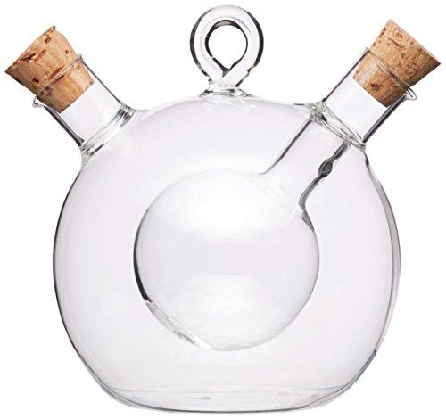 KitchenCraft Wereld van Smaken 2-in-1 Olijfolie Dispenser en Azijn Fles - Helder Glas