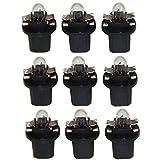 LED-Mafia® Lot de 9 ampoules halogènes pour compteur de vitesse - Blanc chaud