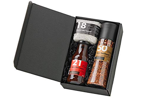 Grill Geschenk-Set mit Saucen (Grillset inkl. 1 Sauce)