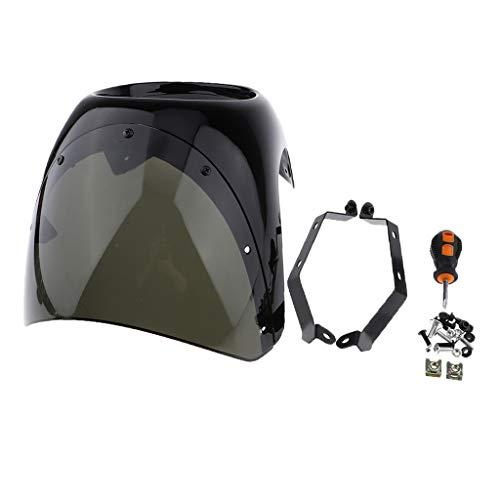 perfeclan Cubierta Delantera para Faro Carenado 7 en Custom Moto Cafe Racer - Tipo 2