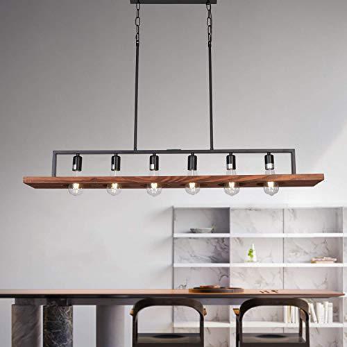 DEARLAN Modern Wood Farmhouse 6-Light Rustic Chandelier
