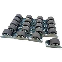 (Paquete de 25 mm) Rueda de plástico y goma de movimiento suave con placa de metal para muebles.