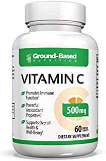 Extra Strength Vitamin C 1,000mg By Ground Based Nutrition – Non-GMO, All Natural, Pure, Real Organic Vitamin C – Megadose...