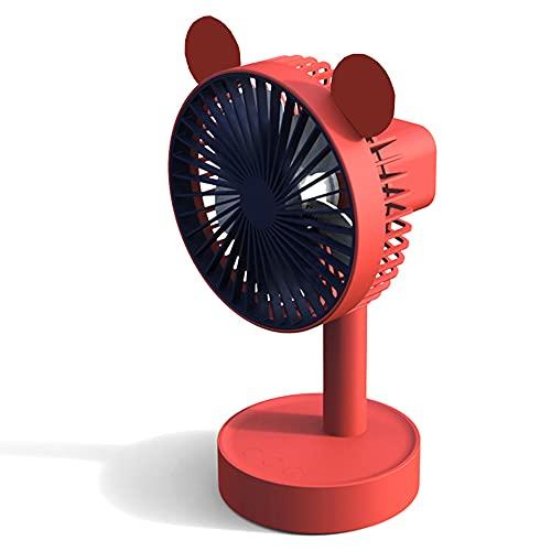 Electric fan Ventilador de Viento Grande Enchufe de Carga Ventilador de Doble propósito Carga USB portátil Silencio Ventilador pequeño Escritorio de Oficina Dormitorio de Estudiantes Escritorio Junto