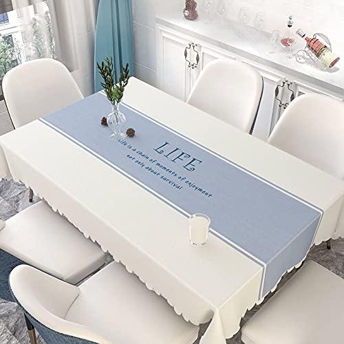 LIUJIU - Tovaglia in PVC spesso, impermeabile, resistente, facile da pulire, lavabile, tovaglia in plastica per uso esterno e interno, ideale per riunioni di famiglia, feste, vacanze, 80 x 120 cm