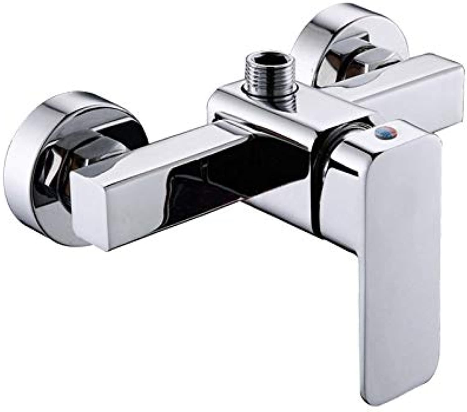 redOOY Taps ?Hot And Cold Water Faucet Mixing Valve Zinc Alloy Bathtub Faucet Square Shower Faucet