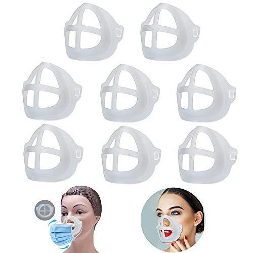 DYBOHF 3D Maskenhalterung, [ 8 PCS ] schützt Lippenstift, Lippen, Kieselgel Maske Halterung, Waschbar Wiederverwendbar Rahmen für Nase und Atmung - Mehr Atmungsraum Zu Schaffen