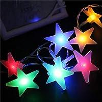 2020 Latest Design バッテリーLEDクリスマスライト文字列松フレークスノーベルペンタグラムバッテリー新年お祝いライトフェアリーロープ