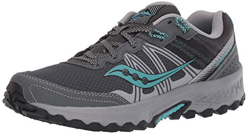 Saucony Women's Excursion TR14 Trail Running Shoe, Charcoal/Marine, 8.5