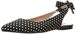 betsey johnson shoes, stitch fix, spring shoes, wedge shoes, tan shoes, stylish shoes, flat shoes, polka-dot shoes
