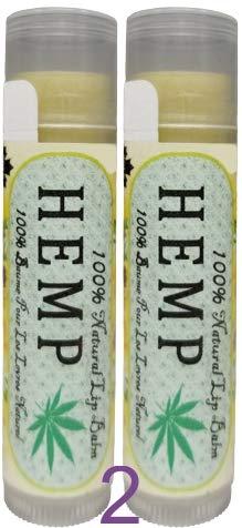 LifeGevity Handcrafted 100% Natural HEMP Lip Balm – 2 Per Pack – Organic Hemp Seed Oil, Organic Shea Butter with Premium…