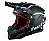 Hebo MX Legend Carbon Casco Enduro, Adultos Unisex, Negro, XXL