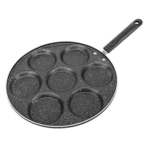 sarten Antiadherente 7 orificios asado olla tortilla engrosada pan de tortilla antiadherente huevo panqueque steete jamón pan desayuno fabricante cuatro agujero pan cocina herramienta de cocina